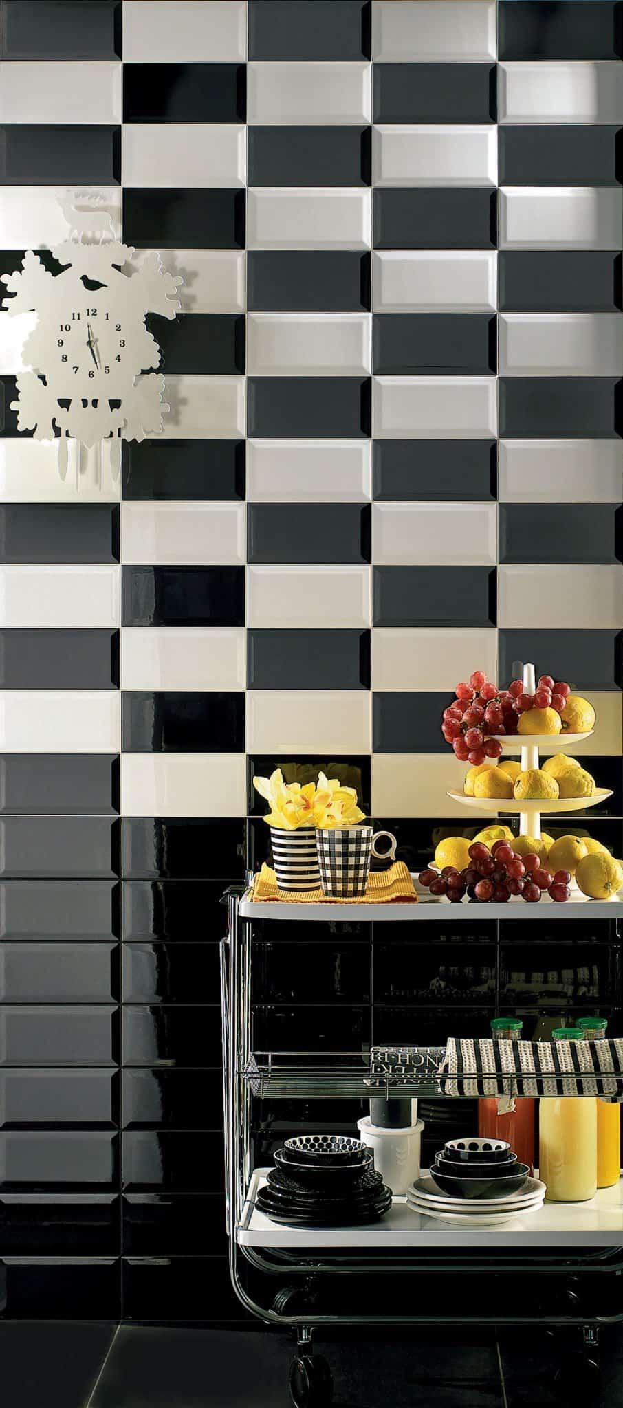 Diamante rivestimento cucina nero mosaico musis ceramica - Mosaico rivestimento cucina ...