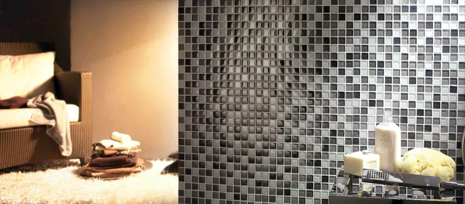 Serie dolomiti pavimenti e rivestimenti musis for Piastrelle bagno mosaico grigio