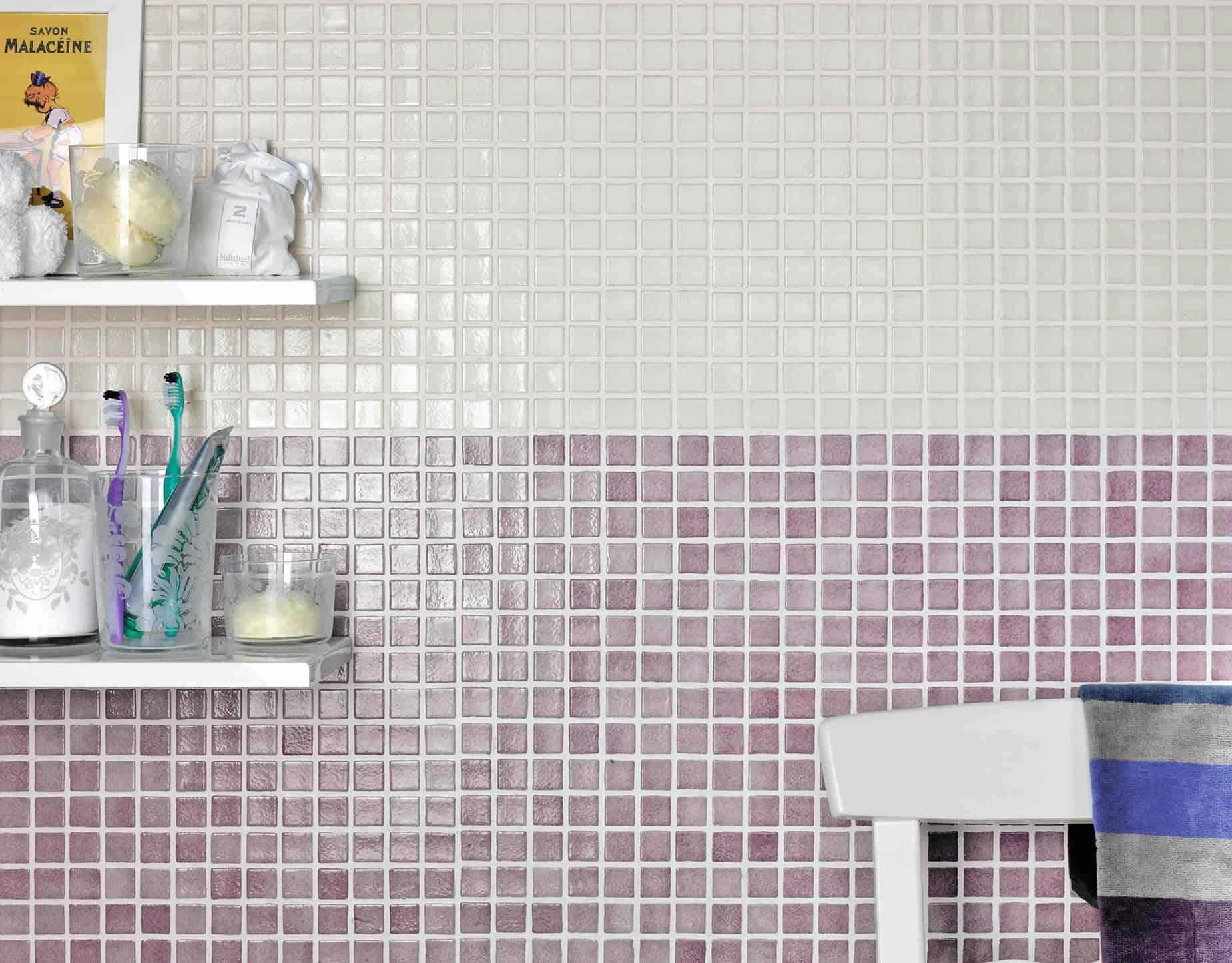 Piastrelle Bagno Mosaico Viola serie iberia - pavimenti e rivestimenti - iberia