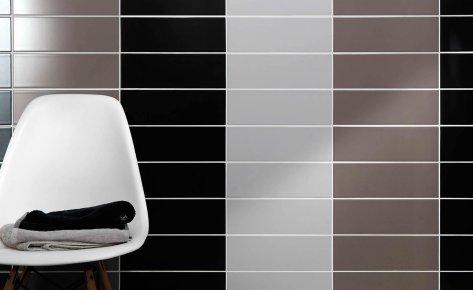 Rivestimento cucina serie brilliant pavimenti e - Rivestimento bagno bianco ...