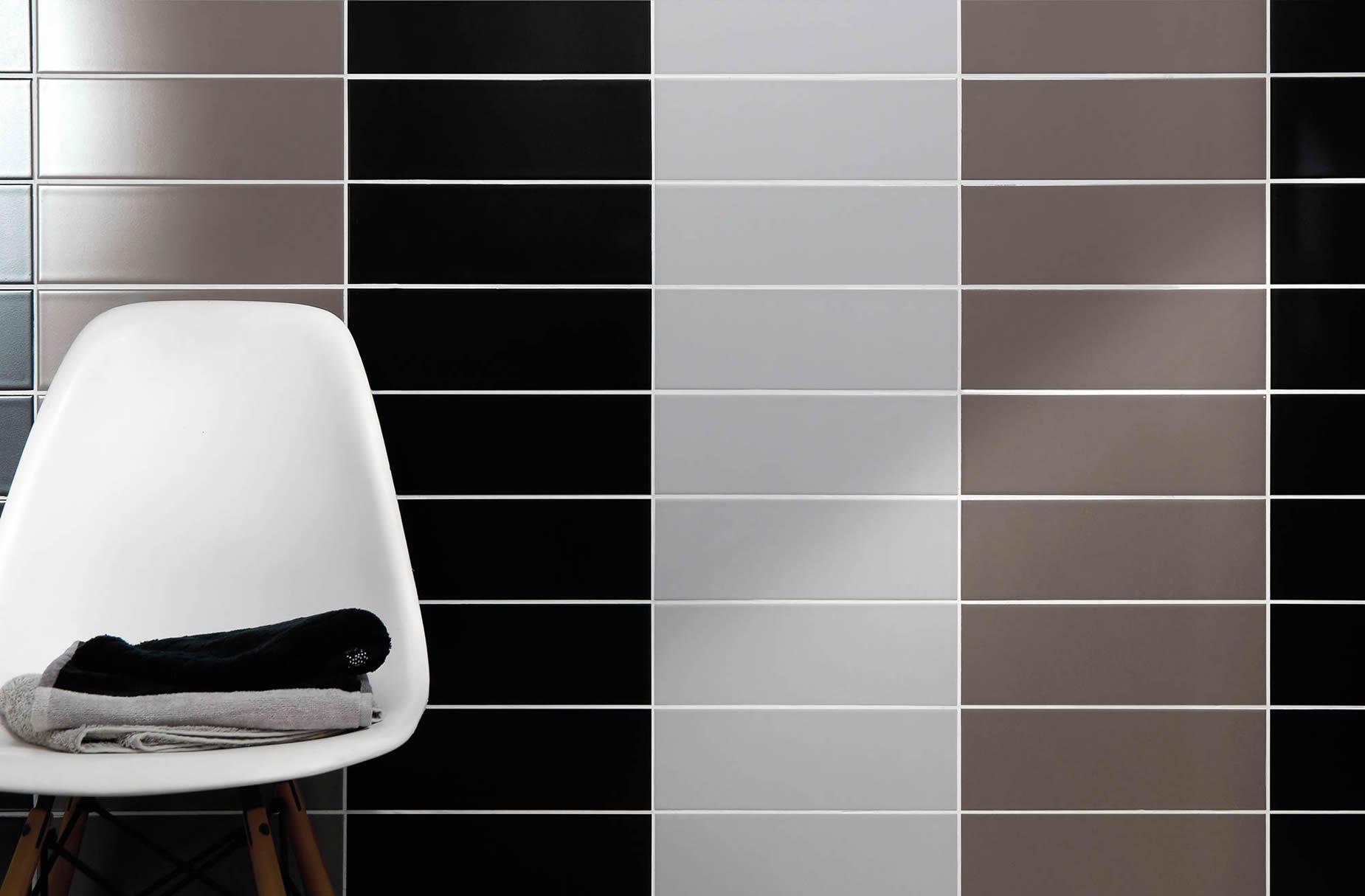 Serie soho pavimenti e rivestimenti musis - Bagno bianco nero ...