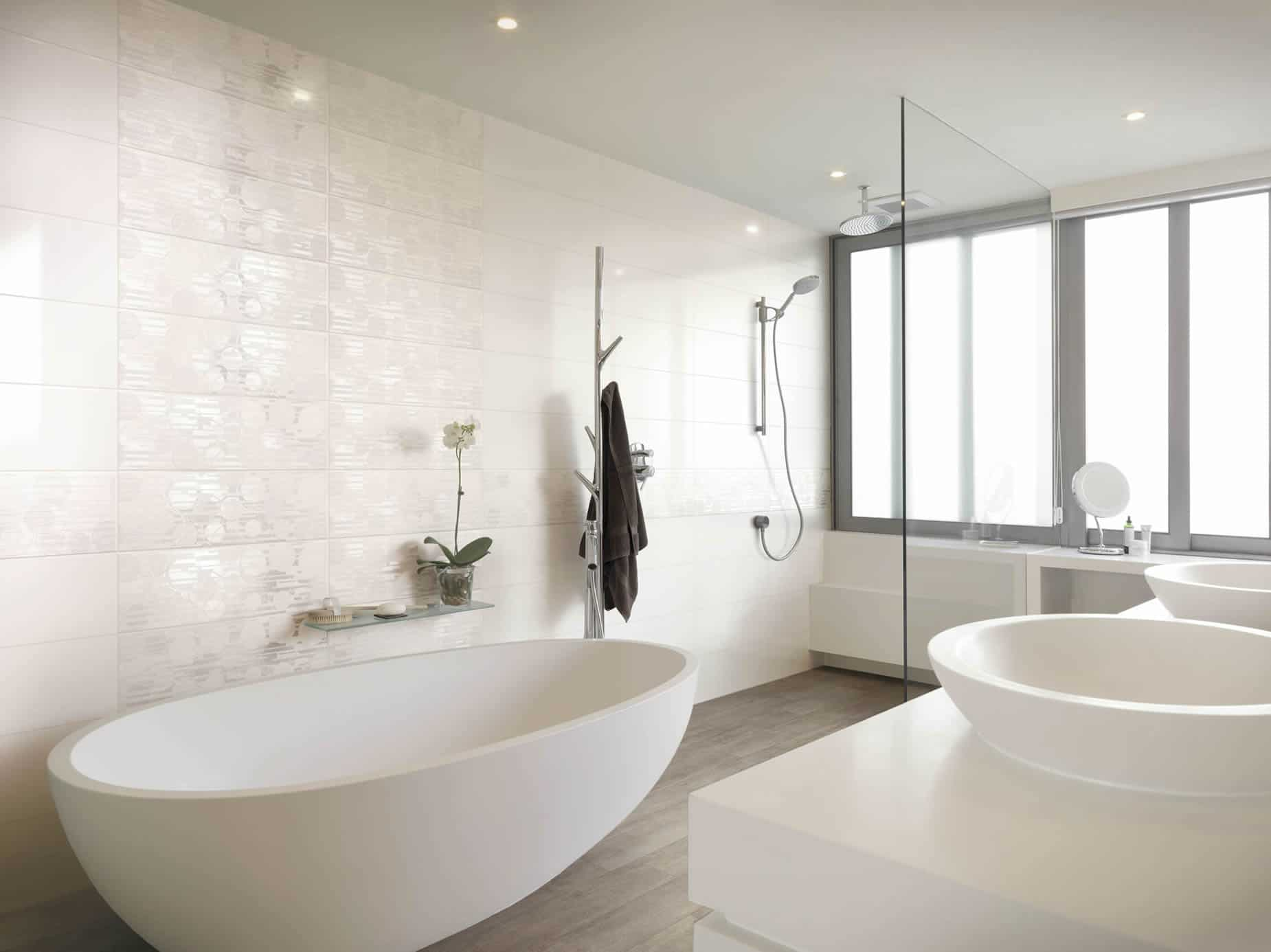 white collection - floor and wall tiles - musis - Bagni Bianchi Moderni