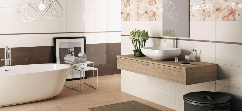 Serie design rivestimenti musis - Bagno marrone e beige ...